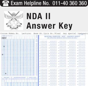 NDA II 2014 Answer Key