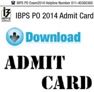 IBPS PO 2014 Call Letter released