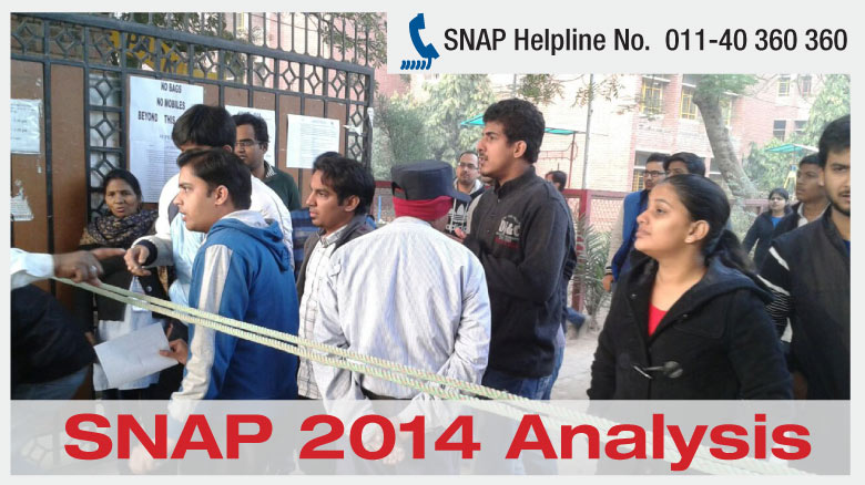 SNAP 2014 Analysis- Easy to Moderate Paper in Expected Pattern