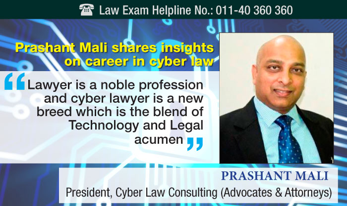Prashant Mali shares insights on career in cyber law