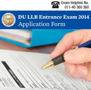 DU LLB 2015 Application Form