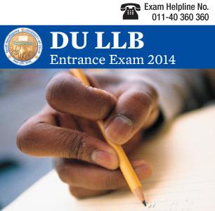 DU LLB Entrance Exam 2015
