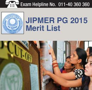JIPMER PG 2015 Merit List
