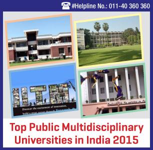 Top Public Multidisciplinary Universities in India 2015