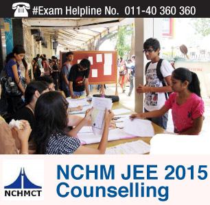 NCHM JEE 2015 Counselling