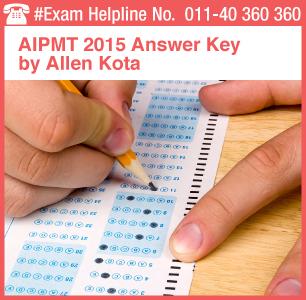 AIPMT 2015 Retest Answer Key by Allen Kota