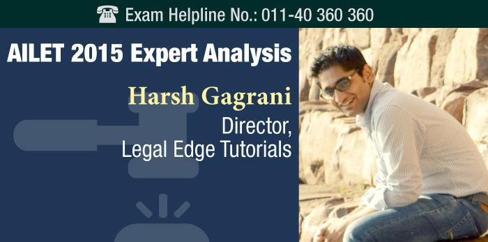AILET 2015 Expert Analysis