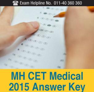 MH CET Medical 2015 Answer Key