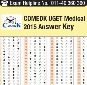 COMEDK UGET Medical 2015 Answer Key