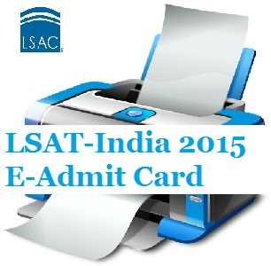 LSAT-India 2015 Admit Card available from May 8