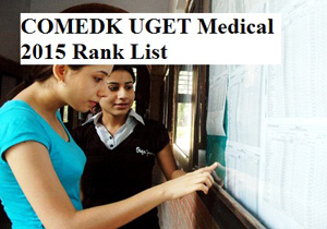 COMEDK UGET Medical 2015 Rank List