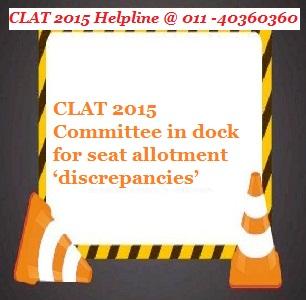 CLAT 2015 Committee in dock for seat allotment 'discrepancies'
