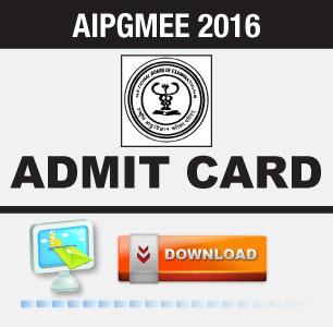 AIPGMEE 2016 Admit Card