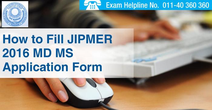 JIPMER PG 2016 Application Form