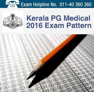 Kerala PG Medical 2016 Exam Pattern