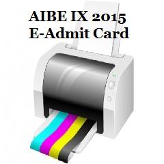 AIBE IX 2015 Admit Card