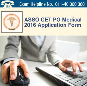 ASSO CET PG Medical 2016 Application Form