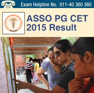 ASSO CET PG Medical 2016 Result