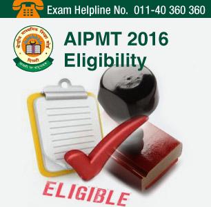 AIPMT 2016 Eligibility