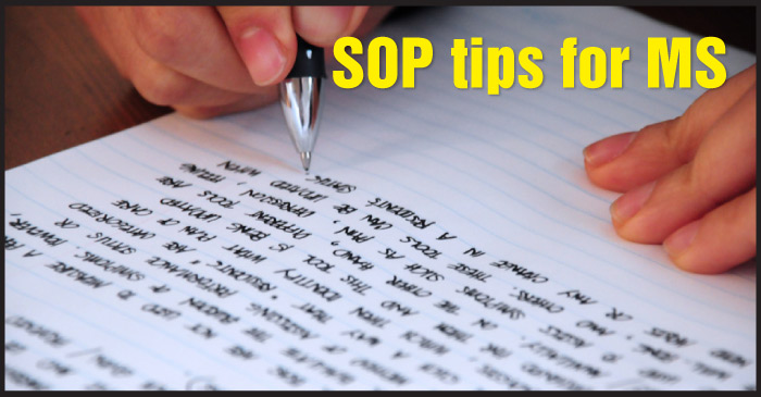 How to write the best SOP for MS