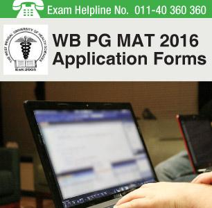 WB PG MAT 2016 Application Form