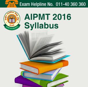 AIPMT 2016 Syllabus