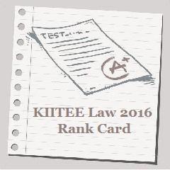 KIITEE Law 2016 Rank Card