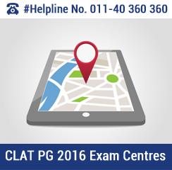 CLAT PG 2016 Exam Centres
