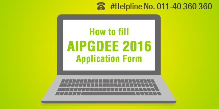 How to fill AIPGDEE 2016 Application Form
