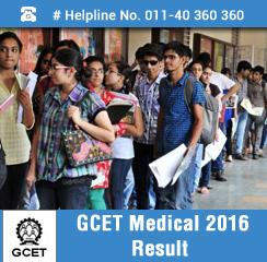 GCET Medical 2016 Result