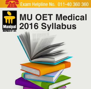 MU OET Medical 2016 Syllabus