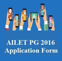 AILET PG 2016 Application Form