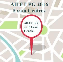 AILET PG 2016 Exam Centres