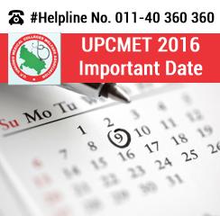 UPCMET 2016 Important Dates