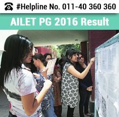 AILET PG 2016 Result