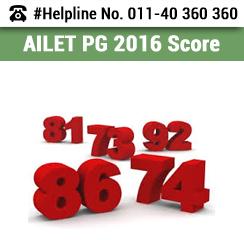 AILET PG 2016 Score
