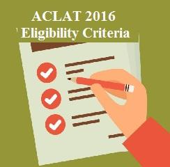 ACLAT 2016 Eligibility Criteria