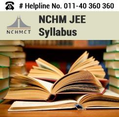 NCHM JEE 2016 Syllabus