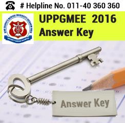 UPPGMEE 2016 Answer Key