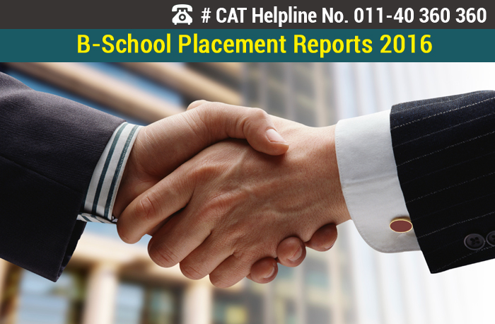 B-School Placement Reports 2016