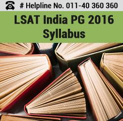 LSAT India PG 2016 Syllabus