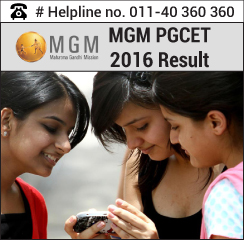 MGM PGCET 2016 Result
