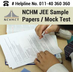NCHM JEE 2016 Sample Papers