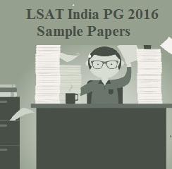 LSAT India PG 2016 Sample Paper