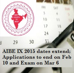 AIBE IX 2015 dates extend; Applications to end on Feb 10 and Exam on Mar 6