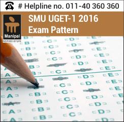 SMU UGET 1 2016 Exam pattern