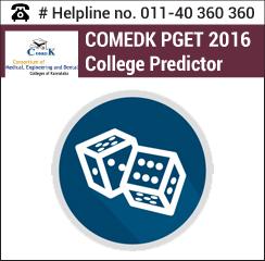 COMEDK PGET 2016 College Predictor