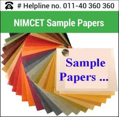 NIMCET 2016 Sample Paper