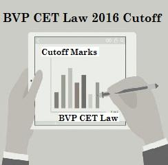 BVP CET Law 2016 Cutoff