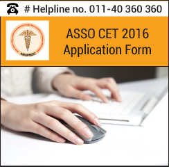 ASSO CET 2016 Application Form